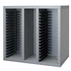 Cassetta porta CD color alluminio Linea Vertigo - Dimensioni cm 42,5 x 27 x 39,5