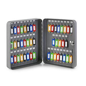 Cassetta portachiavi, 45 posti, 30 x 8 x 24 cm, Grigio