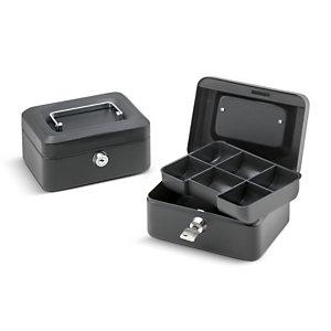 Cassetta portavalori, 15,2 x 11,5 x 8 cm, Nero