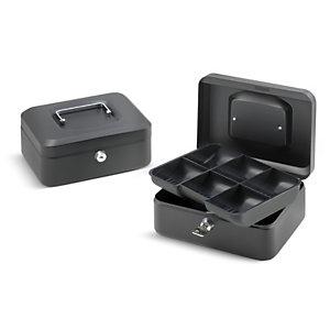 Cassetta portavalori, 20 x 16 x 9 cm, Nero