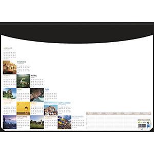 CBG Socle sous-mains en pvc noir avec recharge mosaique perpétuel - format : 40,5 x 55 cm