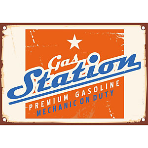 CEANOTHE Quadro decorativo, Gas Station, 45 x 30 cm