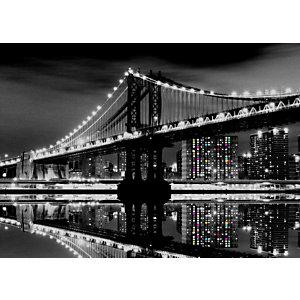 CEANOTHE Quadro decorativo, Ponte di Manhattan, 65 x 45 cm
