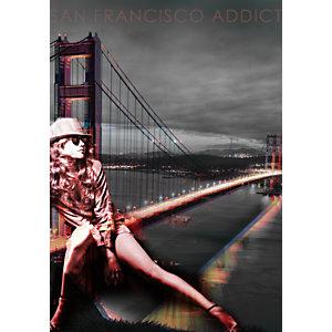 CEANOTHE Quadro decorativo, San Francisco, 45 x 65 cm
