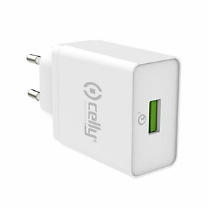 Celly, Caricabatterie, Tc usb qc30 wh, TCUSBQC30WH