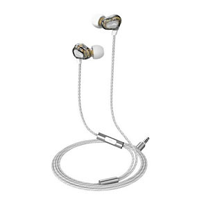 Celly, Cuffie e auricolari, Dual driver stereo ear 3.5mm wh, UP800WH