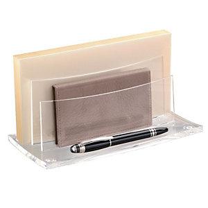 CEP AcryLight 450 sorteerbak 50 enveloppen 2 compartimenten acryl doorzichtig