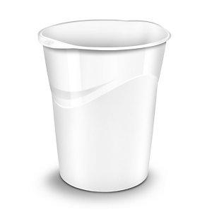 CEP Corbeille à papier Gloss 280 G, 14 litres, 305 x 290 x 334 mm, polypropylène, blanc