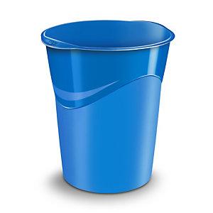 Cep Corbeille à papierGloss280G, 14litres, 305x290x334mm, polypropylène, bleu océan