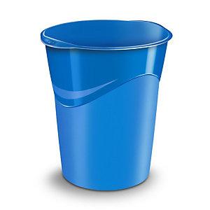 CEP Corbeille à papier Gloss 280 G, 14 litres, 305 x 290 x 334 mm, polypropylène, bleu océan