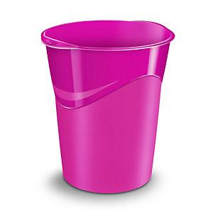Cep Corbeille à papierGloss280G, 14litres, 305x290x334mm, polypropylène, rose
