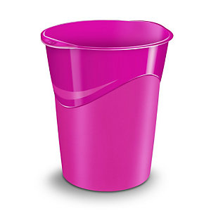 CEP Corbeille à papier Gloss 280 G, 14 litres, 305 x 290 x 334 mm, polypropylène, rose