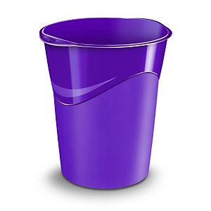 CEP Corbeille à papier Gloss 280 G, 14 litres, 305 x 290 x 334 mm, polypropylène, violet