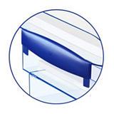 Cep Ice Blue 140 Soportes para bandejas de correspondencia en azul