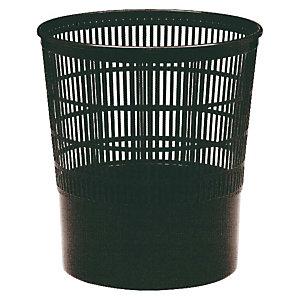 Cep Papelera de oficina económica, polipropileno reciclable en rejilla, 16 l, negro