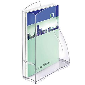 CEP Porte-revues Ellypse 370, 278 x 83 x 325 mm, polystyrène, transparent (Lot de 10)