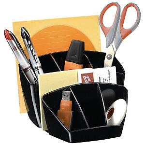 CEP Pot à crayons Confort 580 8 compartiments 14,3 x 15,8 x 9,3 cm Polystyrène Noir