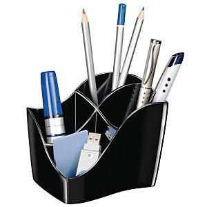 CEP Pot à crayons Ellypse Blaue Engel 340 R 4 compartiments 11,8 x 8,9 x 9,8 cm Polystyrène Noir