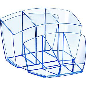 CEP Pot à crayons Ice Blue 580 i bleu transparent