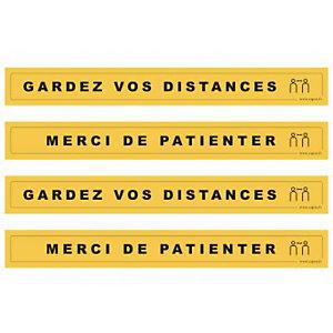Cep Stickers distances de sécurité - Lot de 4