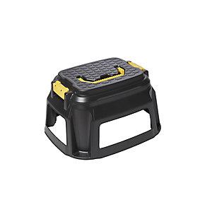 Cep Strata Heavy Duty Marchepied tabouret avec compartiment caisse à outils - Noir / Jaune