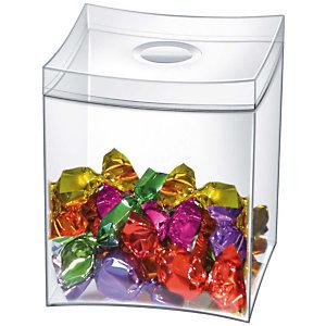 Cep Take A Break Caja para dulces de 0,6 litros y 90 x 90 x 115 mm en poliestireno transparente