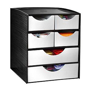 Cep Take A Break Contenitore 2 cassetti grandi + 4 cassetti piccoli 186 x 185 x 230 mm Polistirene Nero / Grigio metallo
