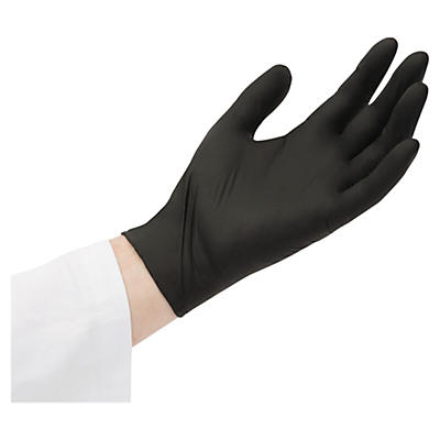 Černé nitrilové rukavice