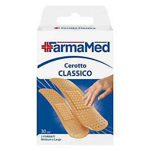 Cerotto Classico FarmaMed, 2 formati Medium e Large (confezione 30 pezzi)