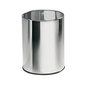 Cestino gettacarta Inox, Capacità 15 litri