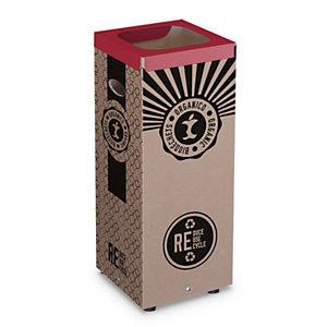 Cestino in cartone per Raccolta Organico, 28 x 28 x 70 cm, Capacità 60 l