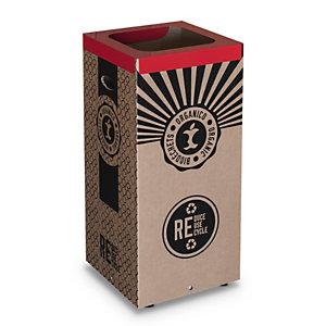 Cestino in cartone per Raccolta Organico, 38 x 38 x 80 cm, Capacità 100 l
