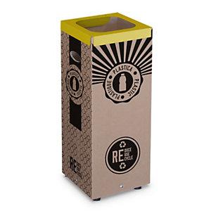 Cestino in cartone per Raccolta Plastica, 28 x 28 x 70 cm, Capacità 60 l