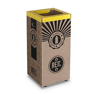 Cestino in cartone per Raccolta Plastica, 38 x 38 x 80 cm, Capacità 100 l