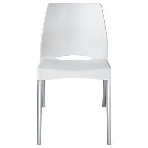 Chaise Collectivités Sweety - Blanc - 4 pieds Aluminium