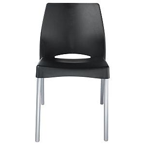 Chaise Collectivités Sweety - Noir - 4 pieds Aluminium