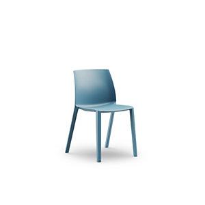 Chaise d'extérieur Olga sans accoudoirs en polypropylène – Bleu