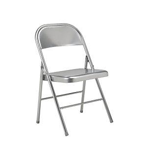 Chaise pliante Boston en métal - Aluminium