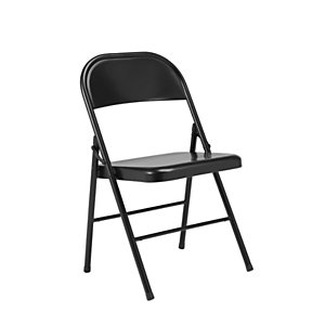 Chaise pliante Boston en métal - Noir