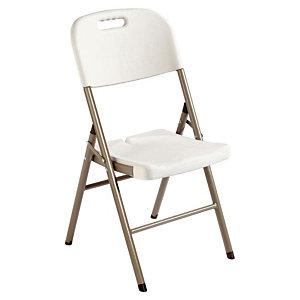 Chaise polyéthylène - Pliante - Gris