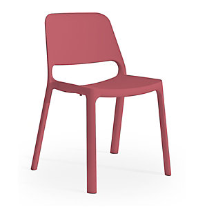 Chaise de réunion & visiteur Nuke en Nylon - Rouge