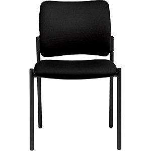 Chaise visiteur BILBAO Tissu rembourré Noir
