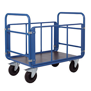 Chariot acier 2 dossiers + 2 ridelles, charge 500 kg