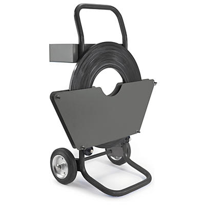 Chariot-dévidoir pour feuillard de cerclage acier monospire##Mobiele haspels voor rollen staalband enkele wikkeling