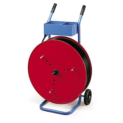 Chariot dévidoir polyvalent pour feuillards polypropylène##Abrollwagen für PP-Umreifungsband