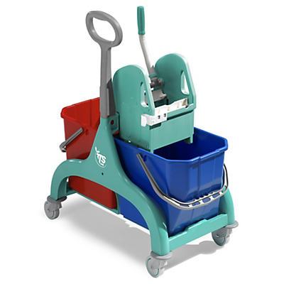 Chariot duo plastique 2 x 15 litres TTS
