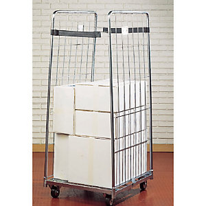 Chariot grillagé roll container charge 500 kg