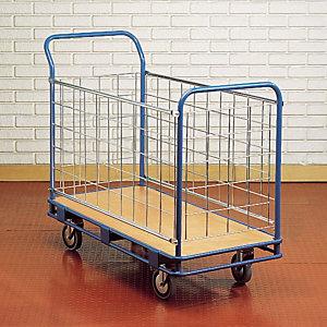 Chariot long plateau - 4 côtés - charge 200 kg