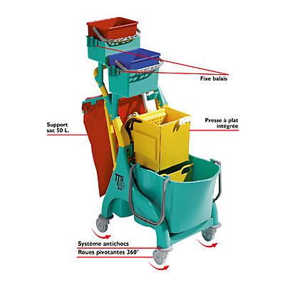Chariot de ménage compact TTS
