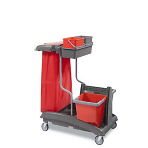 Chariot de ménage équipé Ideatop, pour surfaces supérieures à 200 m²